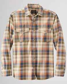 Pendleton Men's Tan Rogue Plaid Long Sleeve Button-Down Western Shirt , Tan, hi-res