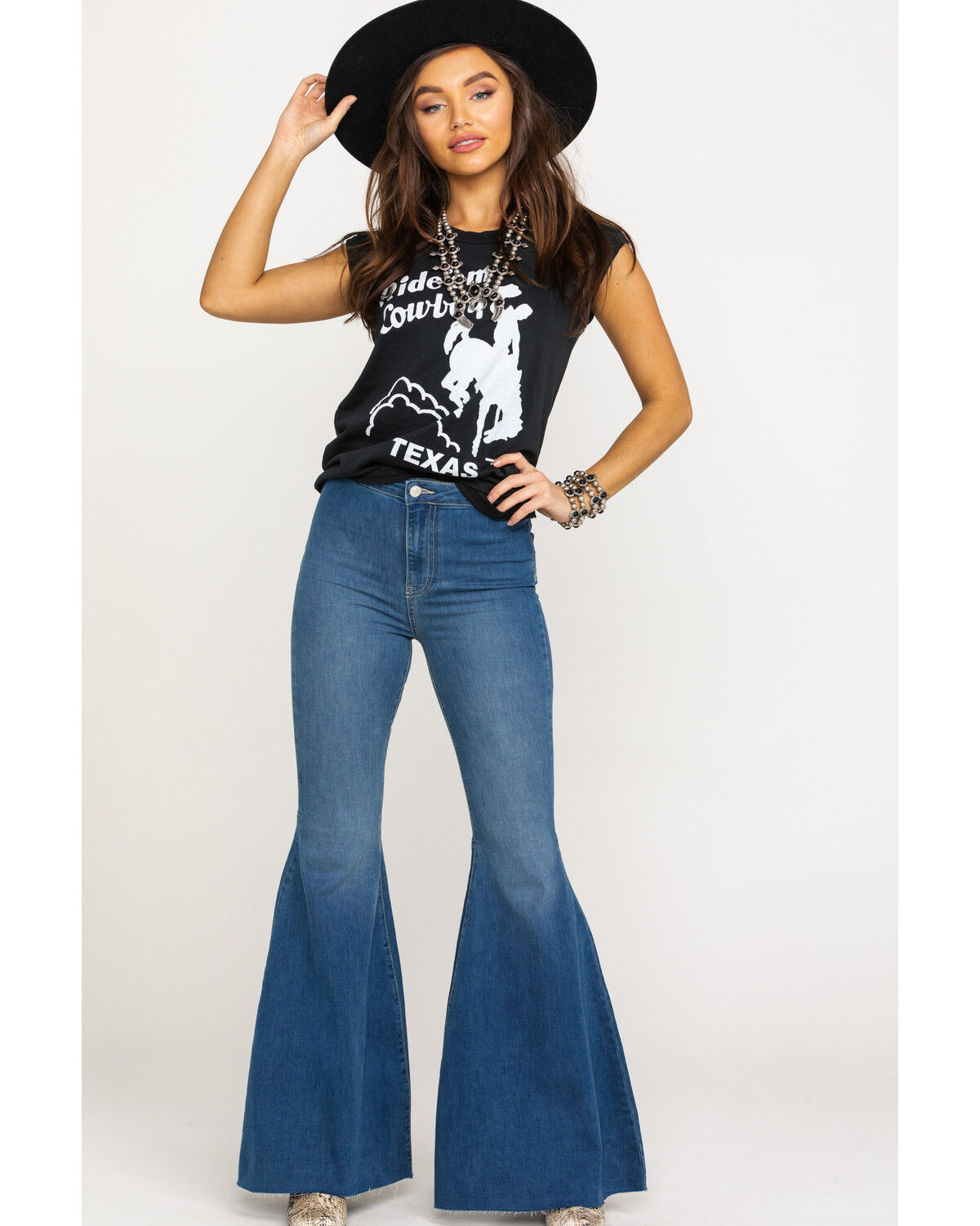 Free People Just Float On Flare Jeans New