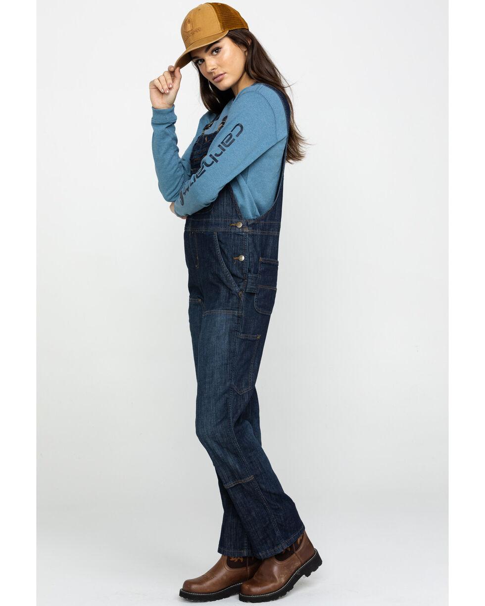 Carhartt Women's Brewster Double-Front Bib Overalls, Indigo, hi-res