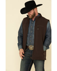 Cody James Core Men's Brown Wrightwood Zip Front Vest - Big , Brown, hi-res