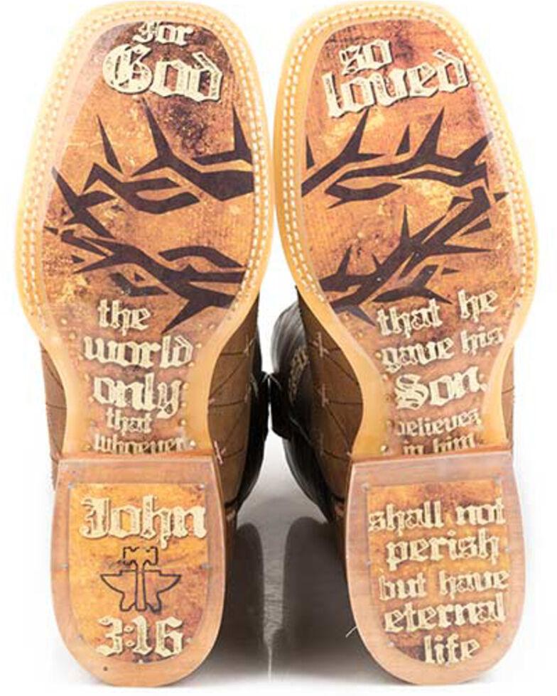 Tin Haul Men's John 3:16 Western Boots - Square Toe, Tan, hi-res