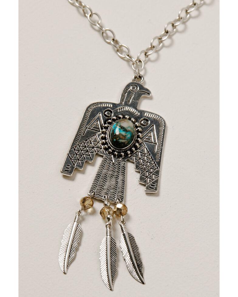 Shyanne Women's Mystic Summer Thunderbird Fringe Jewelry Set, Silver, hi-res