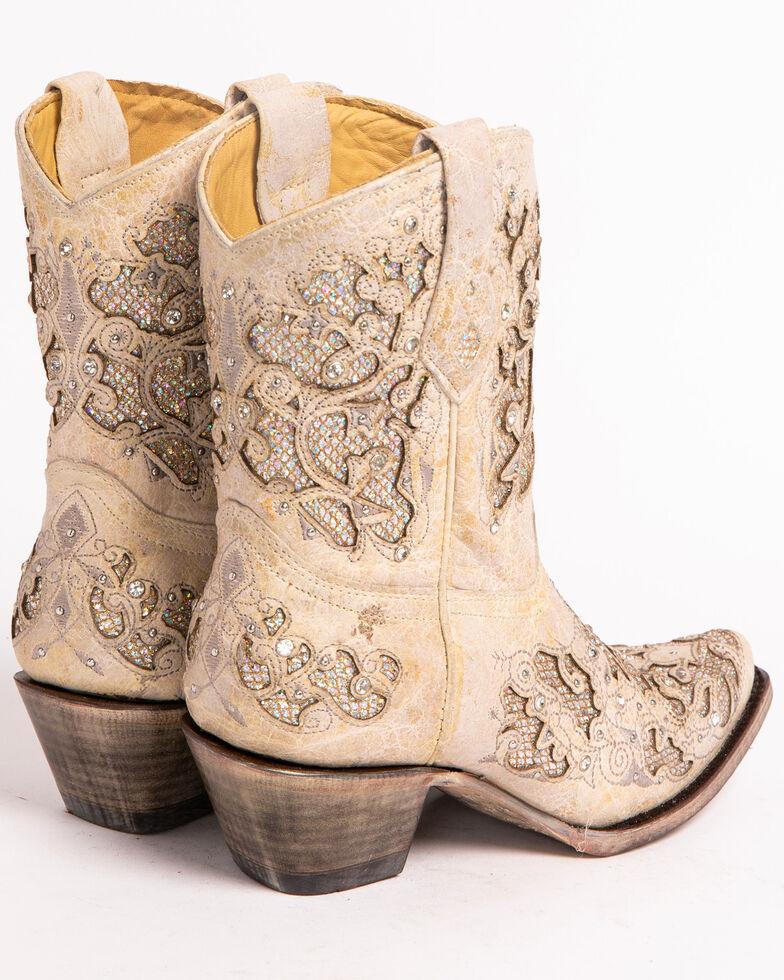 da59e5d7edf0b Corral Women's Metallic Glitter Inlay & Crystal Boots - Snip Toe
