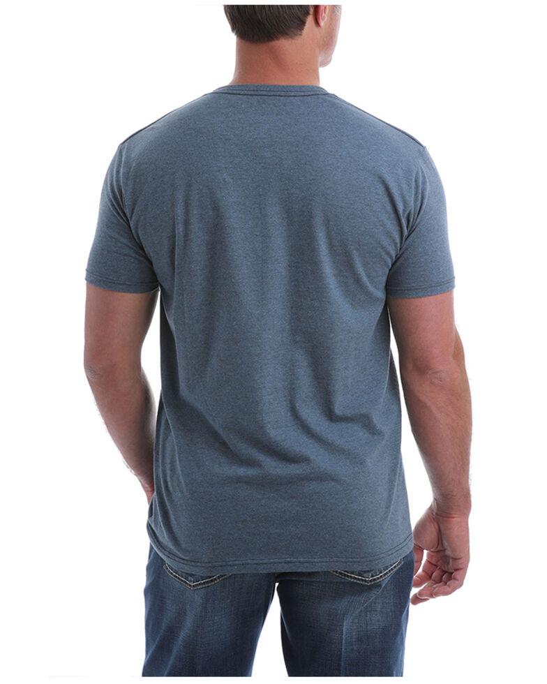 Cinch Men's Heather Blue Rodeo Brand Logo Short Sleeve T-Shirt , Heather Blue, hi-res