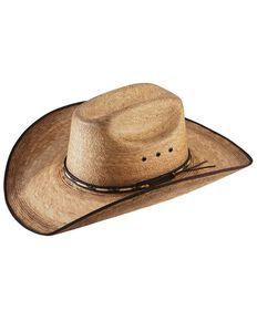 Jason Aldean Men's Amarillo Sky Palm Leaf Cowboy Hat , Natural, hi-res