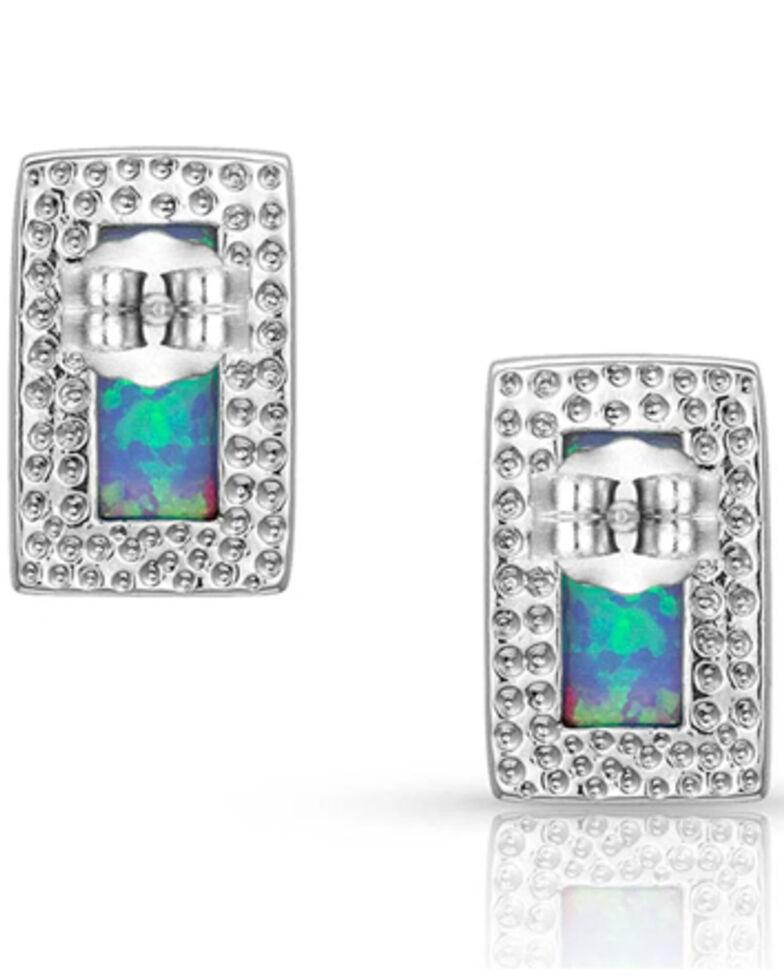 Montana Silversmiths Women's Bar Opal Stud Earrings, Silver, hi-res