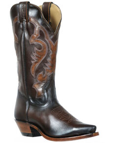 Boulet Women's Palermo Western Boots - Snip Toe, Brown, hi-res