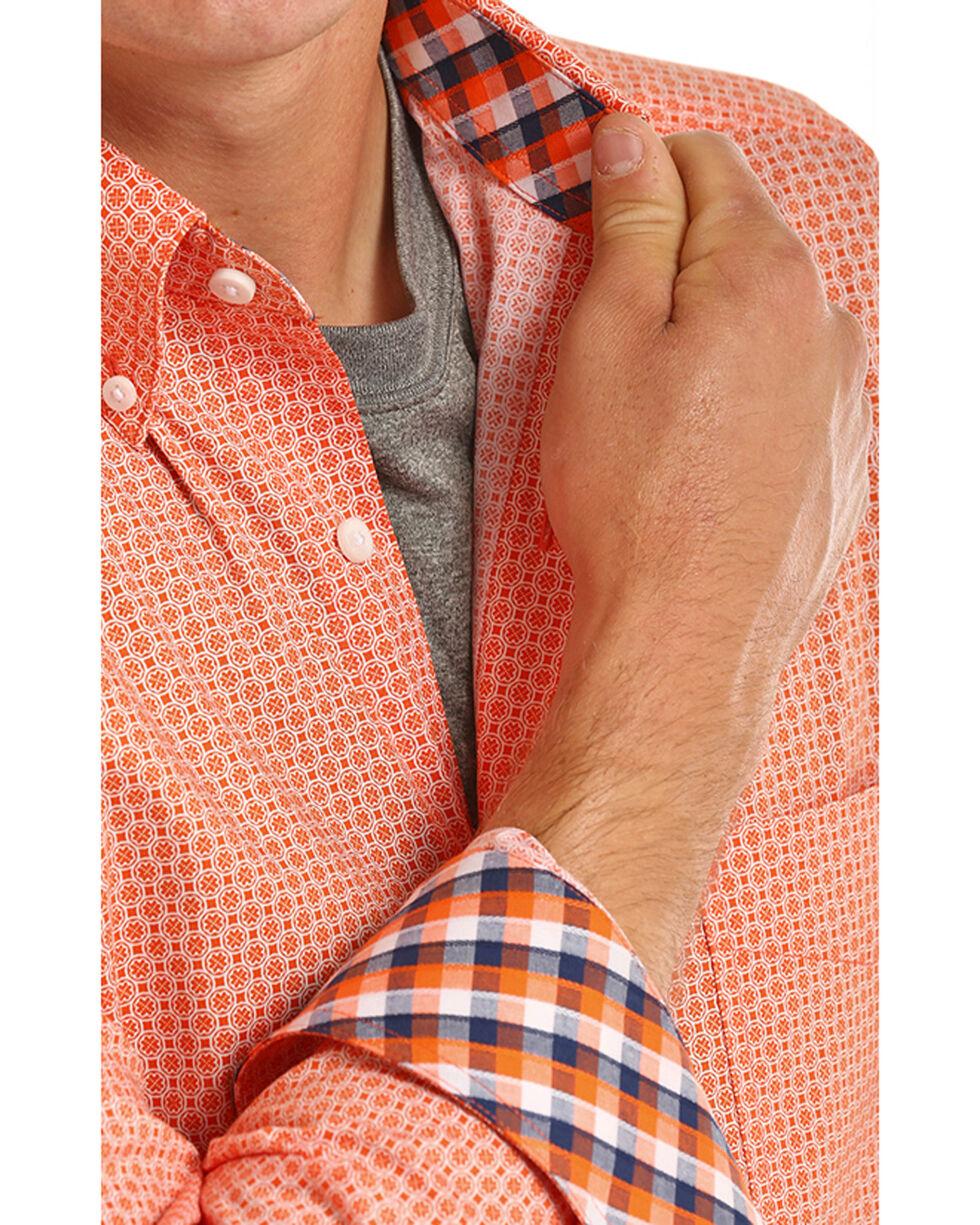 Tuf Cooper Men's Competition Fit Print Shirt, Orange, hi-res