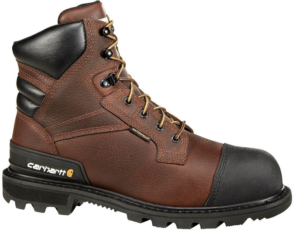 "Carhartt 6"" Brown CSA Work Boot - Safety Toe, Brown, hi-res"