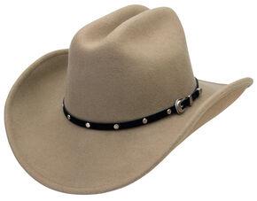 Silverado Men's Crushable Wool Cattleman Crown Hat, Putty, hi-res
