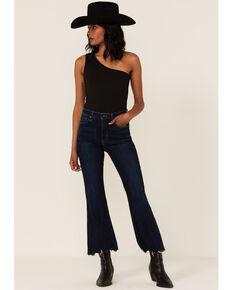 Just Black Denim Dark Wash High-Rise Flare Jeans, Dark Wash, hi-res