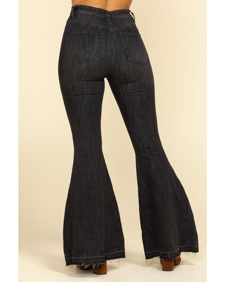 Free People Women's Black Irreplaceable Flare Jeans  , Black, hi-res