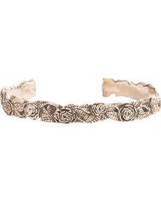 Silver Legends Women's Diamond Cut Rose Bracelet , Silver, hi-res
