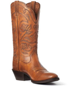 Ariat Women's Heritage Western Boots - Round Toe, Brown, hi-res