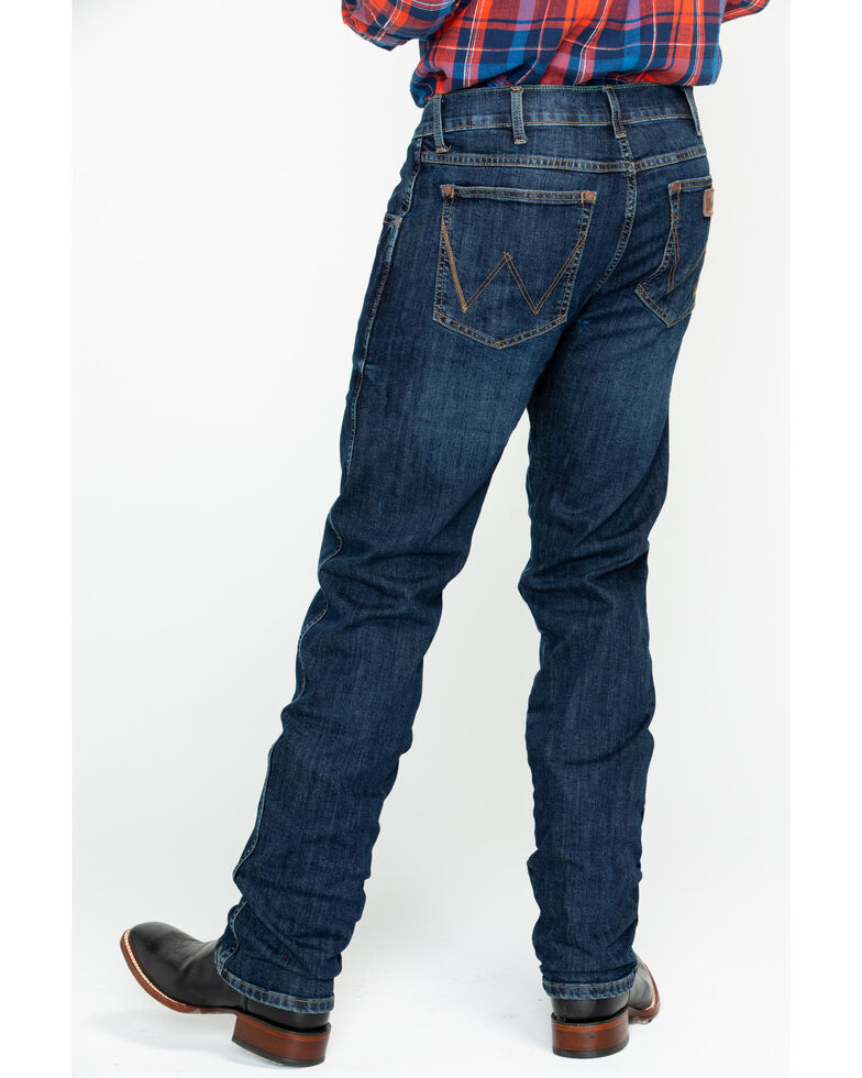 bfda26bd Zoomed Image Wrangler Retro Men's Dawson Slim Straight Jeans - Tall , Blue,  hi-res