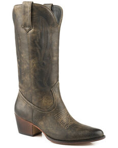 Roper Women's Brown Nettie Western Boots - Medium Toe, Brown, hi-res