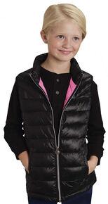 Roper RangeGear Girls' Crushable Vest , Black, hi-res