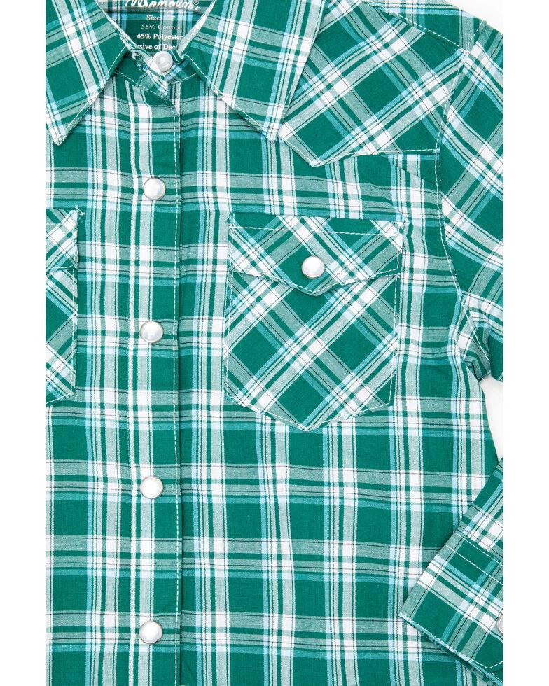 Wrangler Boys' Assorted Raita Plaid Button Long Sleeve Western Shirt , Multi, hi-res