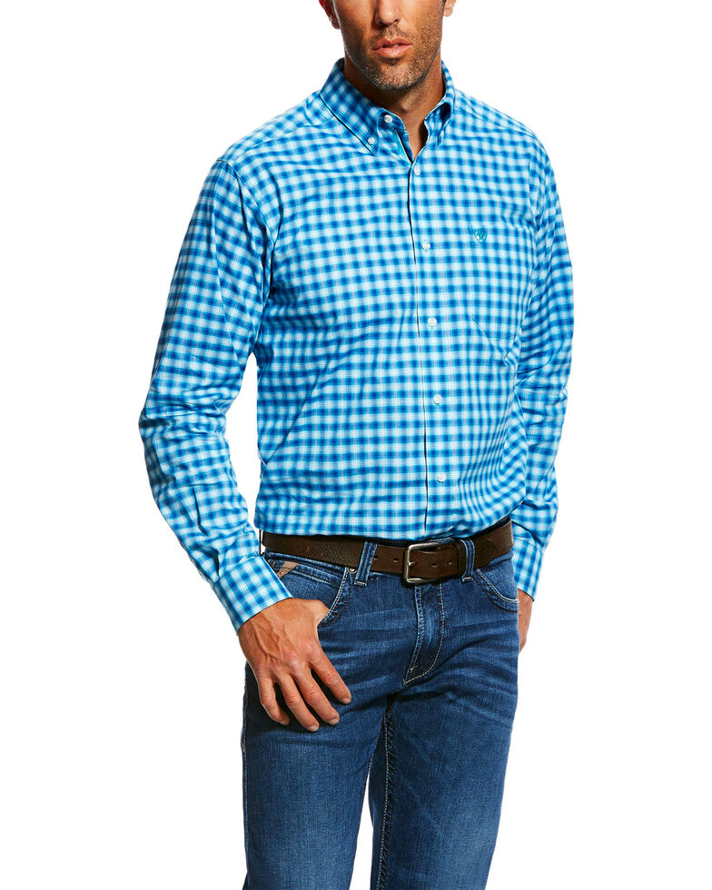 Ariat Men's Nazzaro Stretch Plaid Long Sleeve Western Shirt , Multi, hi-res