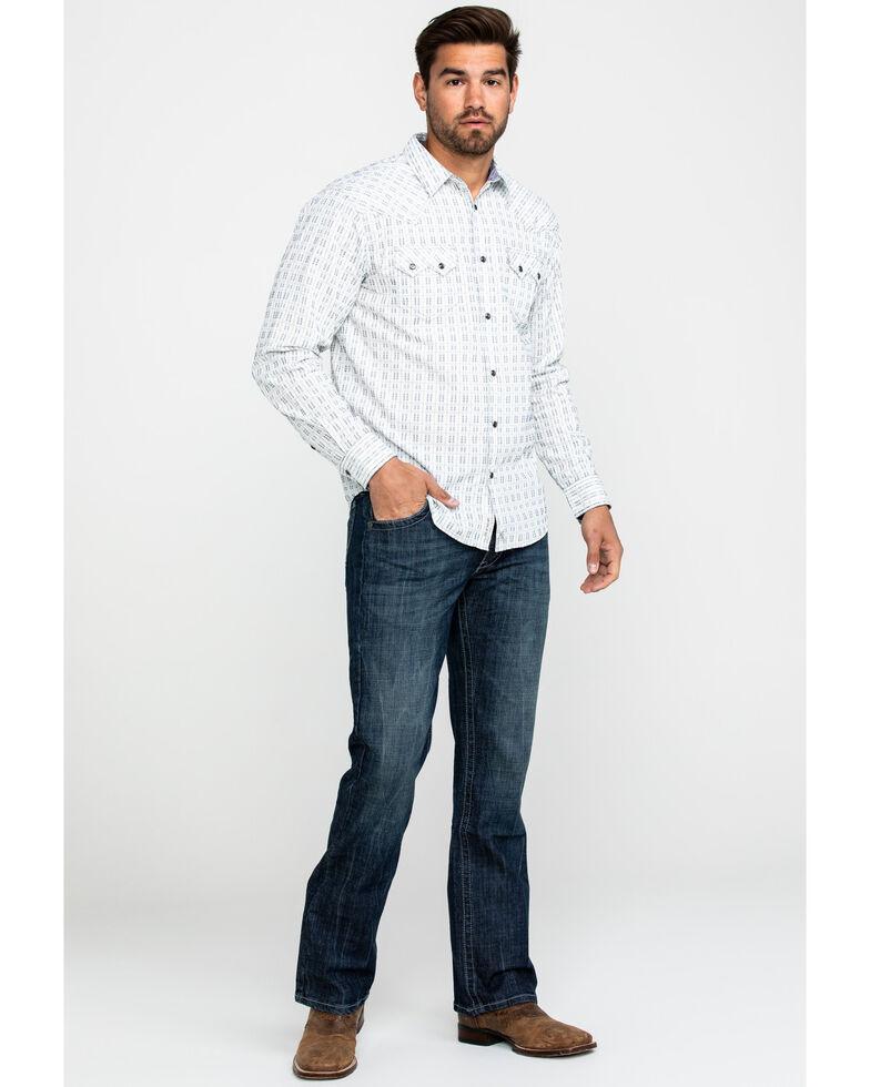 Moonshine Spirit Men's Mad Dash Dobby Solid Long Sleeve Western Shirt , White, hi-res
