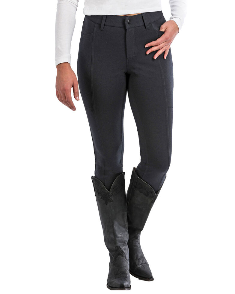 Cinch Women's Knit Moto Pants, Black, hi-res