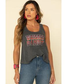 Shyanne Women's Burnout Whiskey Bandit Tank Top, Black, hi-res