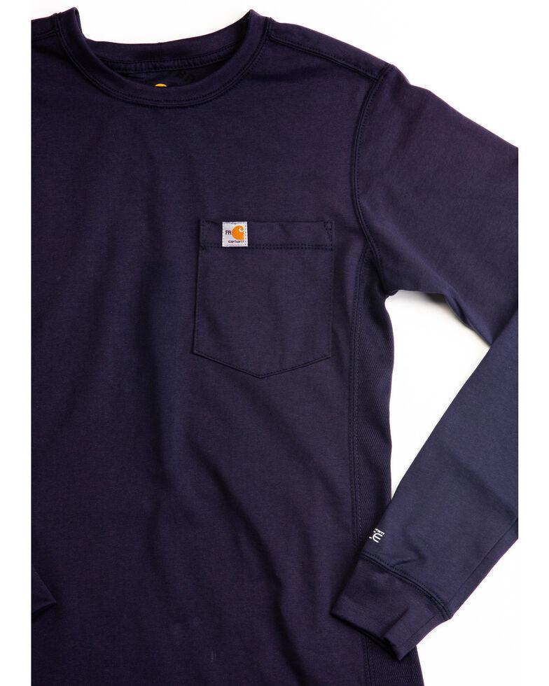 Carhartt Women's FR Force Long Sleeve Shirt, Navy, hi-res