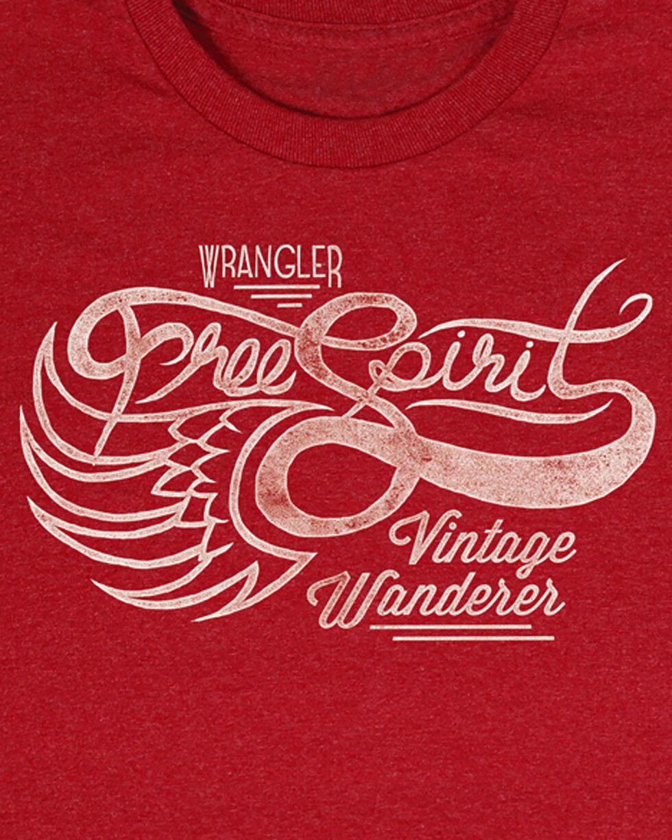 Wrangler Men's Red Vintage Wanderer Tee , Heather Red, hi-res