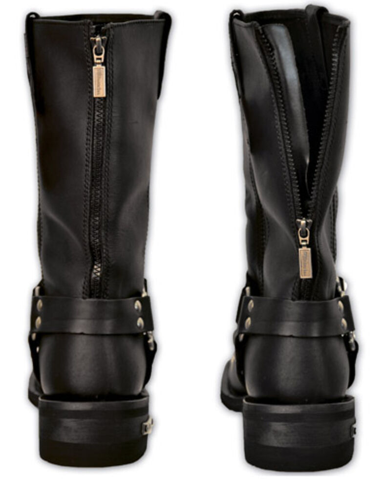 Milwaukee Motorcycle Clothing Co. Drag Harness Moto Boots - Square Toe, Black, hi-res