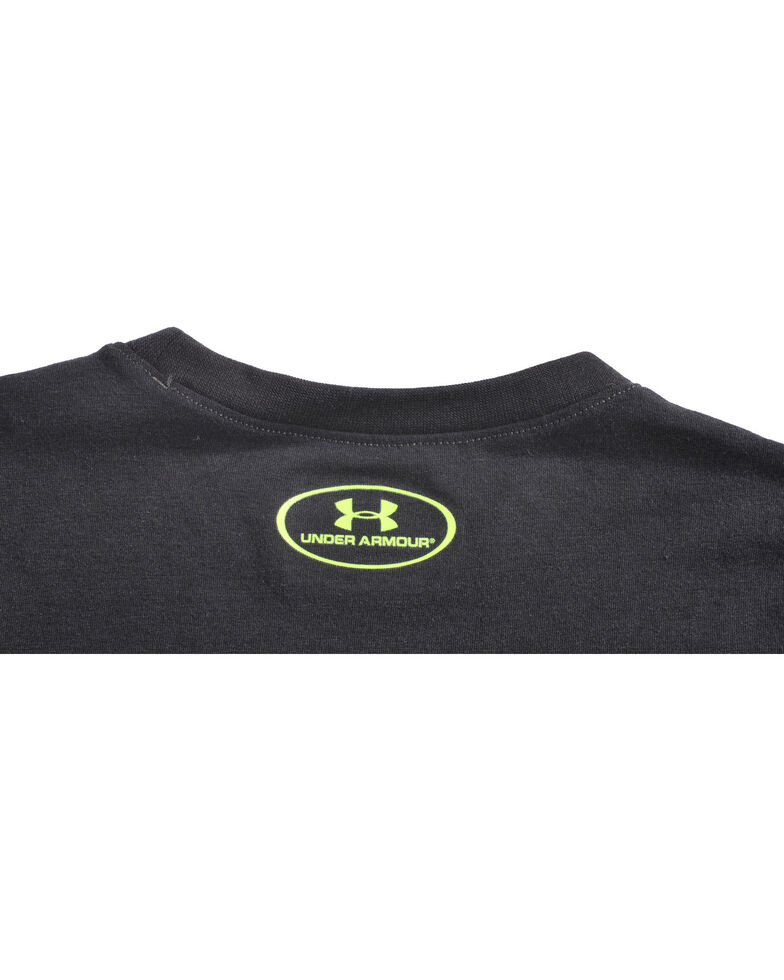 Under Armour Boys' Black ZagZig Camo Logo Tee , Black, hi-res