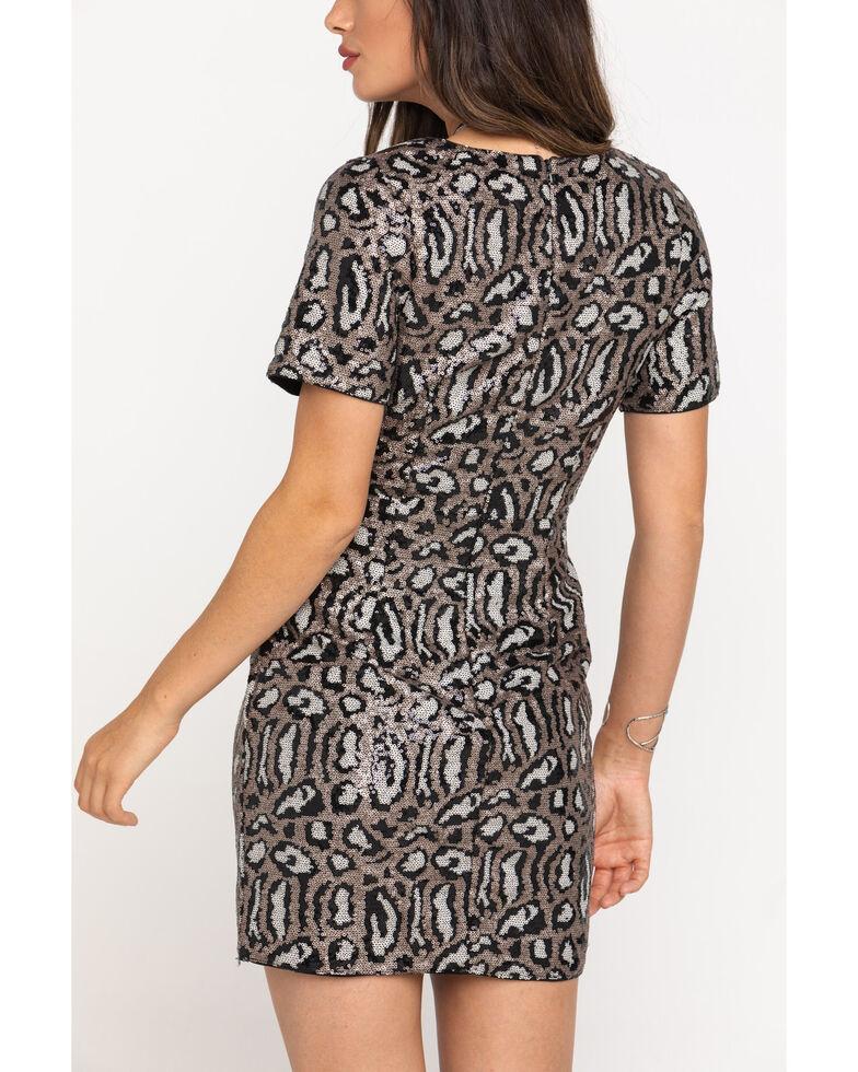 Molly Bracken Women's Black & Gold Party Dress , Gold, hi-res