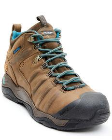 Hawx Men's Brown Axis Waterproof Hiker Boots - Composite Toe, Dark Brown, hi-res
