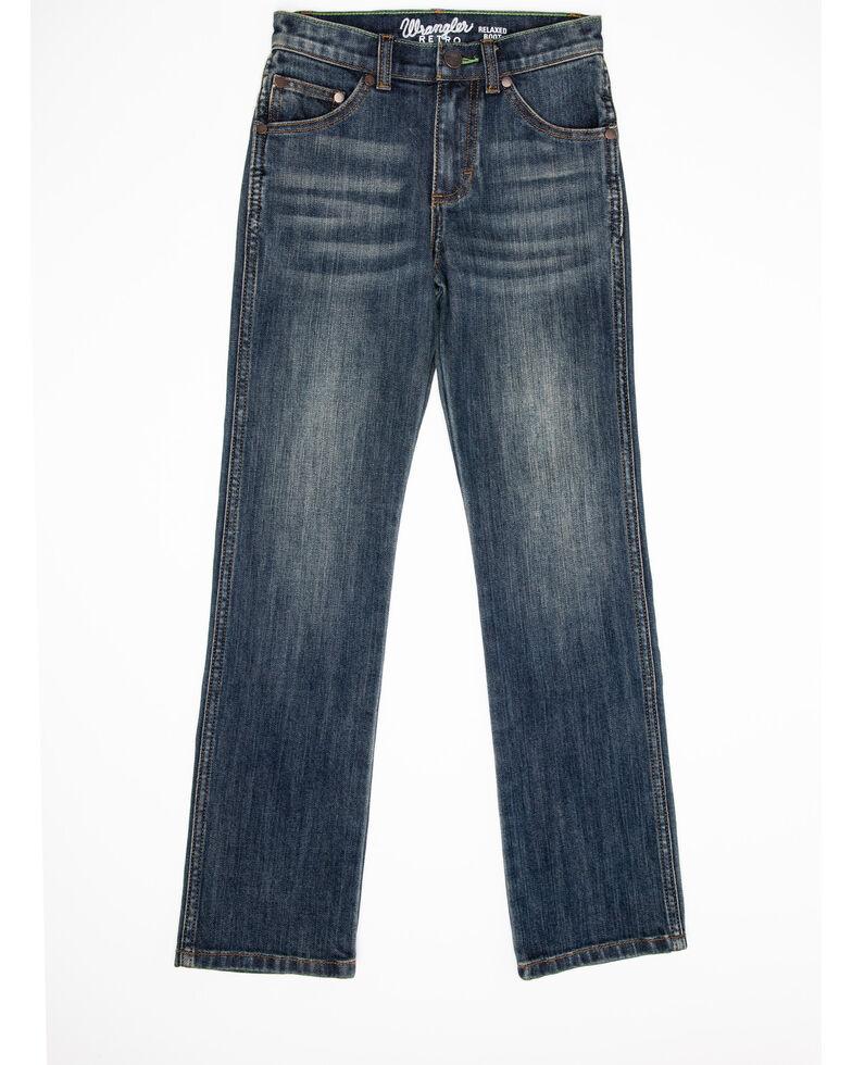 Wrangler Retro Boys' Travis Slim Straight Jeans , Blue, hi-res