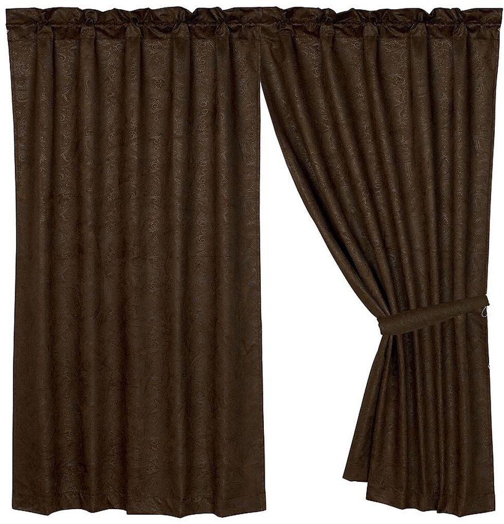 HiEnd Accents Caldwell Faux Tooled Leather Curtain, Multi, hi-res