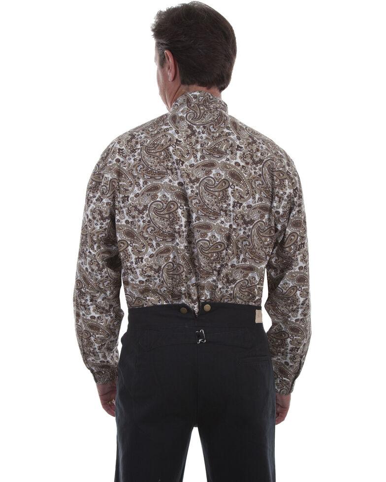 Rangewear by Scully Men's Brown Paisley Long Sleeve Western Shirt, Brown, hi-res