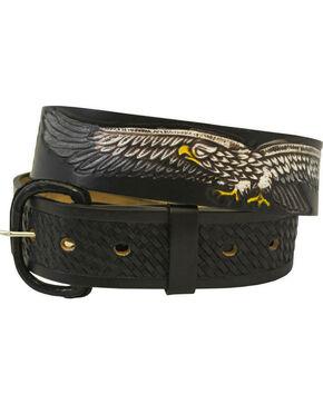 Western Express Men's Leather Eagle Belt - Big, Black, hi-res