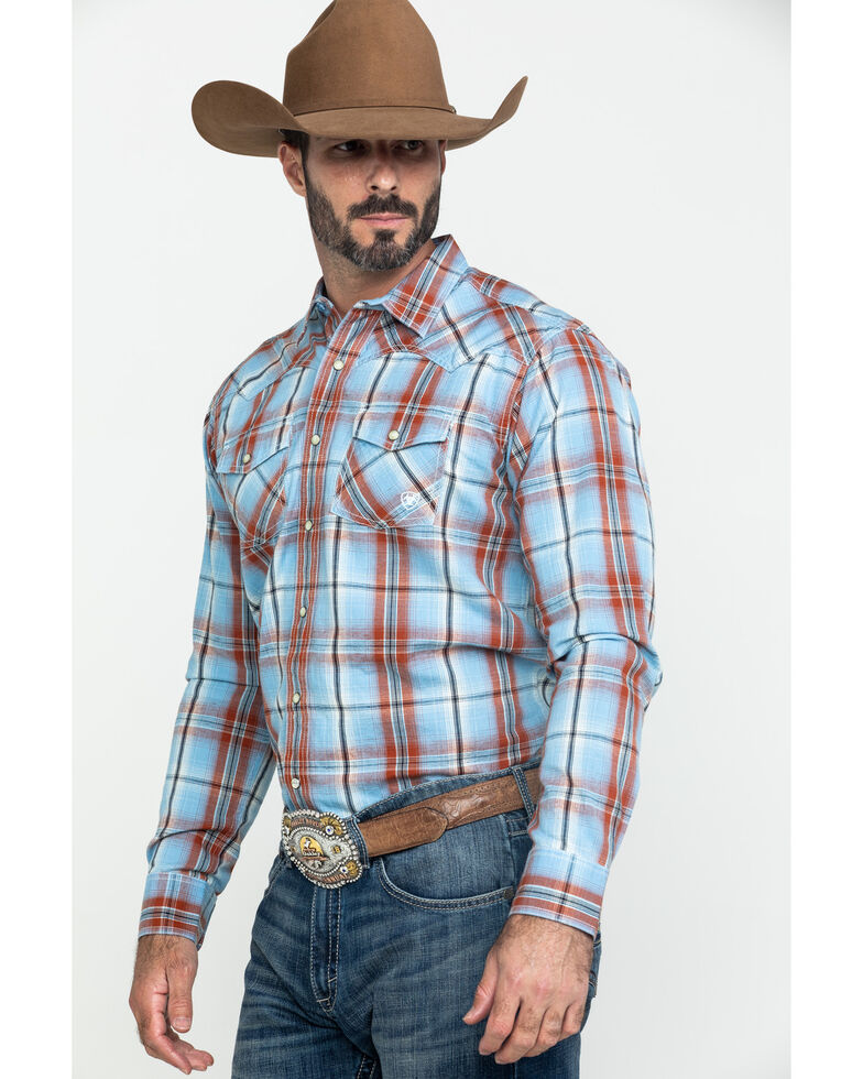 Ariat Men's Jensen Retro Large Plaid Long Sleeve Western Shirt , Multi, hi-res