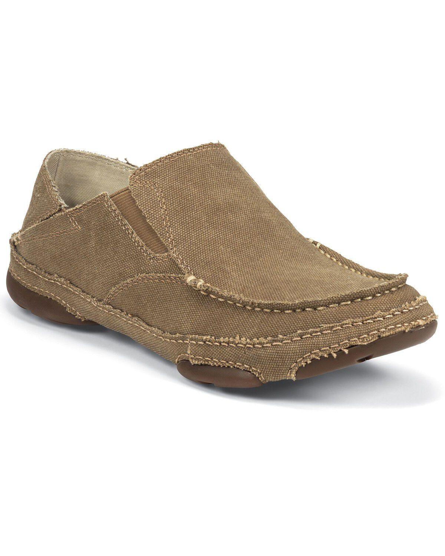 Tony Lama Canvas Slip-On Casual Shoes