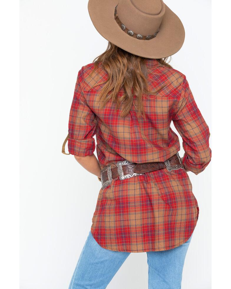 Tasha Polizzi Women's Highland Shirt , Red, hi-res