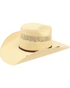 Ariat Men's 20X Twister Americana Straw Hat , Natural, hi-res