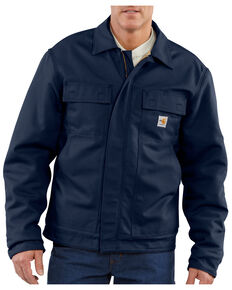 Carhartt Flame-Resistant Lanyard Access Quilt-Lined Jacket - Big & Tall, Navy, hi-res