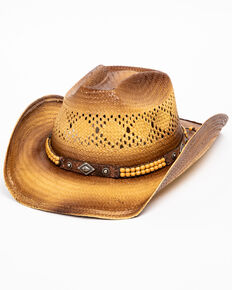 Cody James Men's Miller Straw Hat, Tan, hi-res