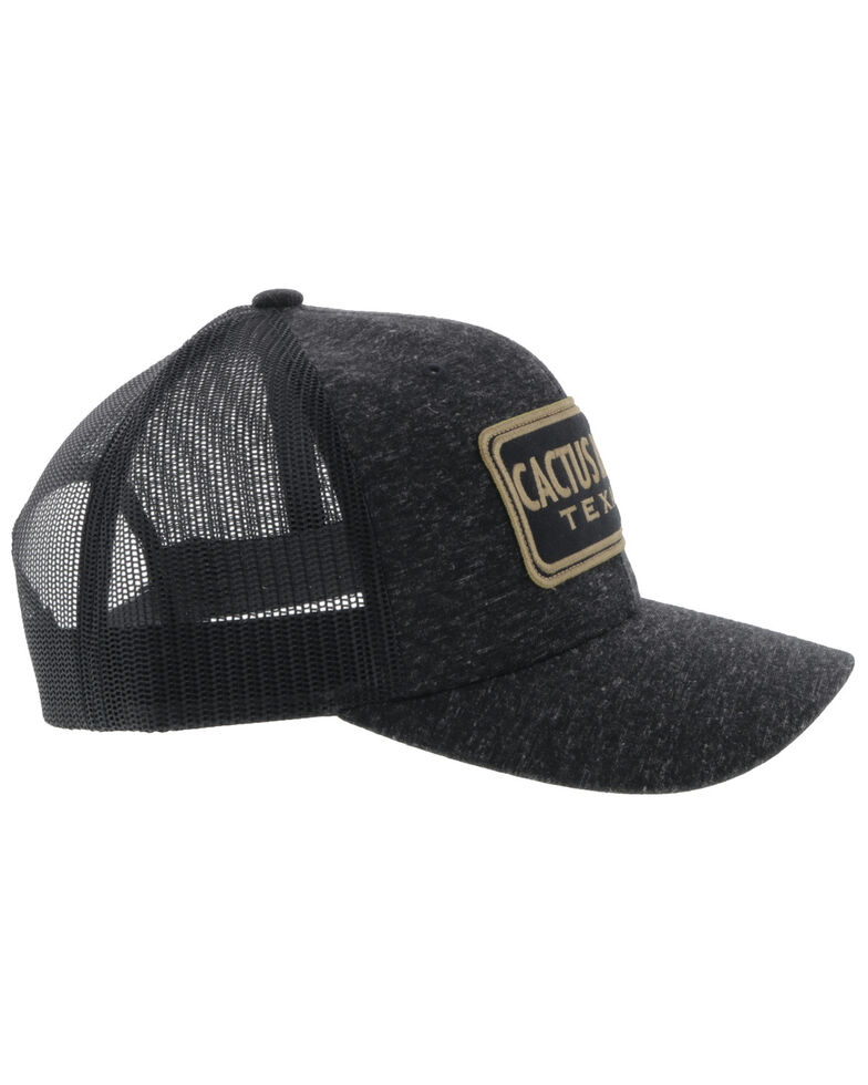 HOOey Men's Black & Gold Cactus Ropes Mesh Ball Cap , Black, hi-res