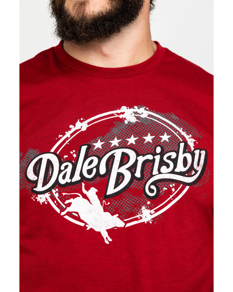 Dale Brisby Branded Bull Rider Graphic T-Shirt , Red, hi-res