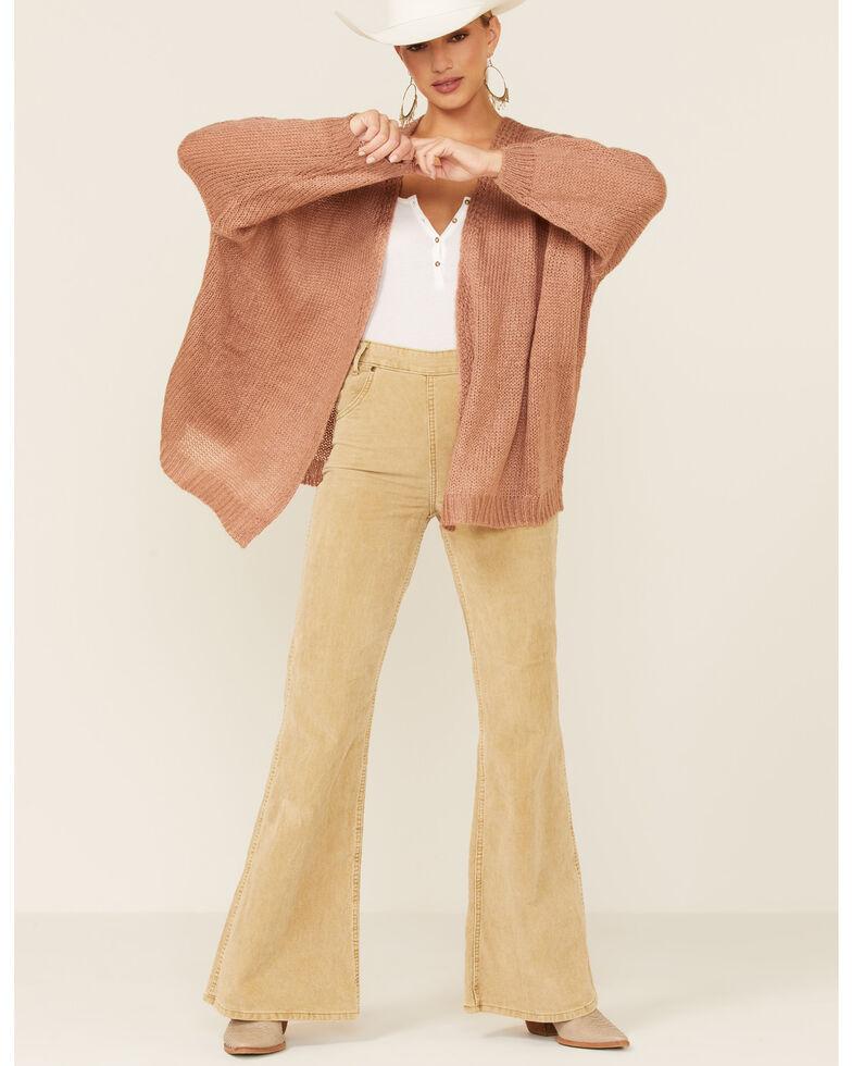 Elan Women's Rock & Love Knit Cardigan, Mauve, hi-res