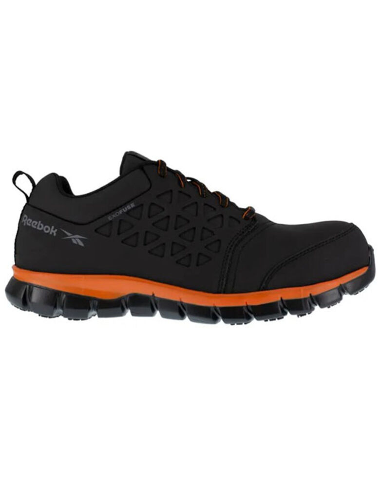 Reebok Men's Sublite Cushioned Work Shoes - Composite Toe, Black, hi-res