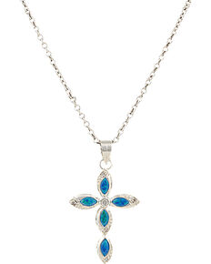 Montana Silversmiths Women's River Lights Waters of Faith Necklace, Silver, hi-res