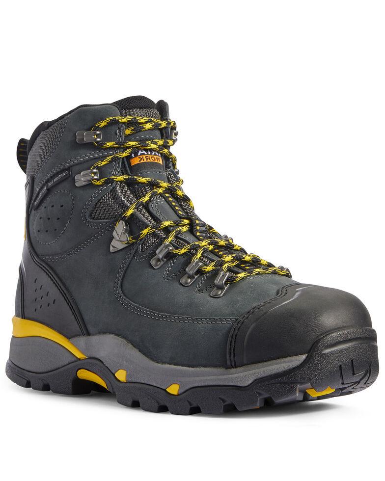 Ariat Men's Endeavor Dark Storm Waterproof Work Boots - Composite Toe, Grey, hi-res