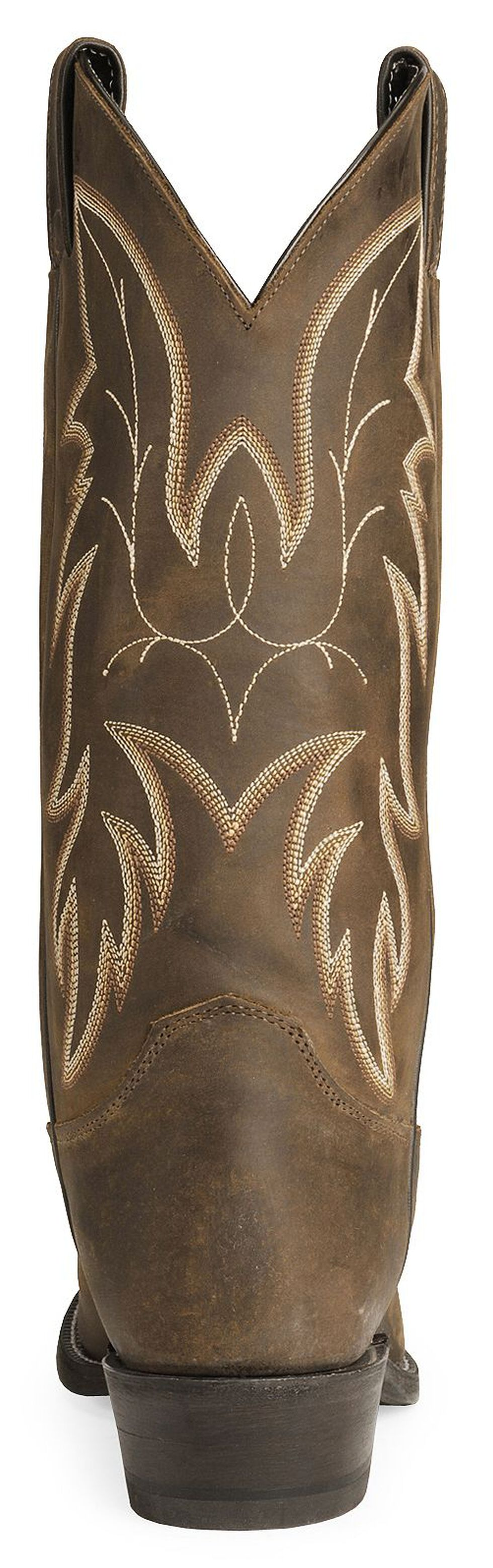 Justin Men's Bay Apache Basic Western Cowboy Boots - Medium Toe, Bay Apache, hi-res