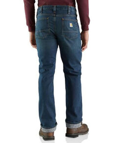 Carhartt Men's Rugged Flex Knit Lined Relaxed Straight Work Jeans , Blue, hi-res